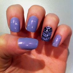 Like the one nail done with the others plain.
