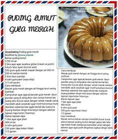 Pudding Desserts, Pudding Cake, Indonesian Food Traditional, Cooking Time, Cooking Recipes, Santa Cupcakes, Malay Food, Kebaya, Juicing
