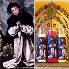 Saint Edward Scissorhands Prayer Candle