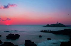 Godrevy Lighthouse at Sunset by Clark Evans, via 500px