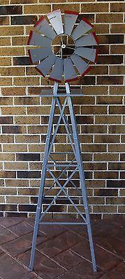 Garden Windmill 1800mm 6ft New Ornamental Outdoor Decorative Metal Replica