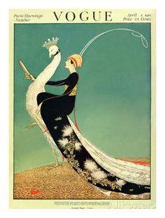 Vogue Cover - April 1918 Regular Giclee Print