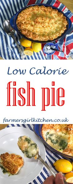 Low Calorie Fish Pie, imagine chunks of tasty fish, in a creamy low calorie sauce with crispy mashed potato on top, comfort food with fewer calories Low Calorie Sauces, No Calorie Foods, Low Calorie Recipes, Healthy Recipes, Healthy Foods, Fish Recipes, Seafood Recipes, Cooking Recipes, Kitchen Recipes