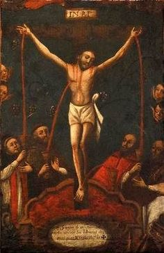Lessons from the Divine Office of the Feast of the Most Precious Blood Of Our Lord Jesus Christ: John Treatise 120 on the Gospel of John by St. Novena Prayers, Catholic Prayers, Catholic Art, Religious Art, Pintura Colonial, Colonial Art, Holy Body, Blood Of Christ, Christian Symbols