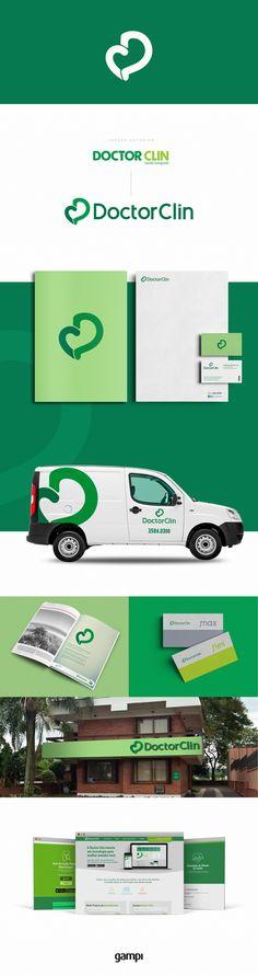 Criação de novo logotipo, identidade visual, material de expediente, website e fachadas da Doctor Clin. #design #MIV #brand #logo