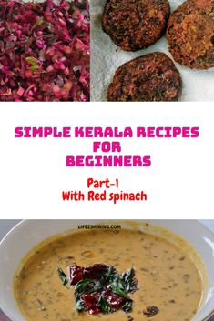 Simple Kerala recipes for beginners - part 1- Spinach - Lifezshining Veg Dishes, Tasty Dishes, Cooking For Two, Cooking Time, Simple Recipes, Healthy Recipes, Jackfruit Seeds, Kerala Recipes
