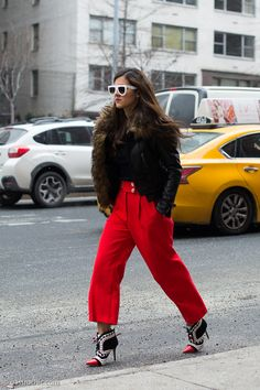 Red Pants and White Sunglasses, Outside Tommy Hilfiger FW2016