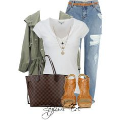 Alaa. by stylisheve on Polyvore featuring White Stuff, River Island, Sigerson Morrison, Louis Vuitton, LowLuv and Biba