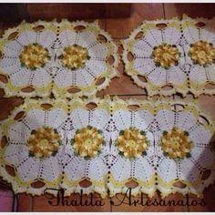 Jogo de cozinha 3 peças https://www.facebook.com/pages/Thalita-Artesanatos-Vendas/477031682453686
