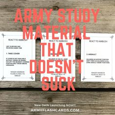 We have a passion for making the Military the best it can be. Going to Ranger School? Army Flashcards is here to help you every step of your career. Ranger School, Army Life, Study Materials, Positivity, Military, The Unit, Education, Teaching, Onderwijs