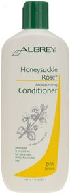 Aubrey Organics Honeysuckle Rose Moisturising Conditioner for Dry, Brittle Bleached & Highlighted Hair. Vibrant, touchably soft hair with this moisture-intensive conditioner. Restorative herbal emollients detangle & rehydrate to leave hair ultra-silky and irresistibly fragrant. For bleached or highlighted hair. Deep-condition & protect; soften hair texture. http://www.theremustbeabetterway.co.uk/aubrey-organics-honeysuckle-rose-moisturising-conditioner.html