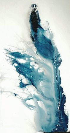 Blue Bottle 600 x 1200 by AliCContemporaryArt on DeviantArt Alcohol Ink Crafts, Alcohol Ink Painting, Alcohol Ink Art, Watercolor Canvas, Abstract Canvas, Oil Painting On Canvas, Painting Abstract, Abstract Art Blue, Contemporary Abstract Art
