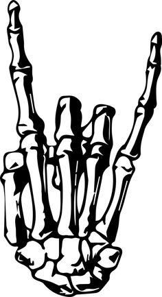 Rock On Skeleton Hand Sticker by designly Skeleton Hand Tattoo, Skull Hand, Skeleton Hands, Hand Tattoos, Hand Sticker, Rock Hand, Hand Art, Cricut Creations, Art Drawings Sketches