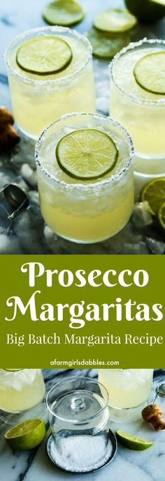 Prosecco Margaritas {big-batch cocktail} | Wotips