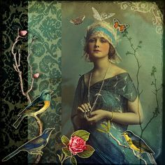 photo collage  no regrets by fiona watson art, via Flickr