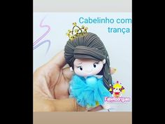Aprenda fazer Cabelo de trança com Faby Rodrigues - YouTube Pasta Flexible, Clay Tutorials, Biscuits, Polymer Clay, Frozen, Fancy, Fabric Dolls, Hair Steps, How To Make Hair