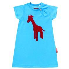 Tapete kinderkleding jurk blauw op www.zazou.eu