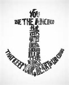 YouBe The Anchor – Quote Anchor Tattoo design Tattoo 1