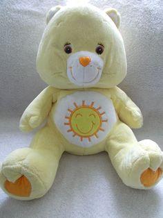Care Bear Plush Funshine Yellow Stuffed Animal Teddy Bear 19 Inches Nice 2006 #CareBear #Funshine