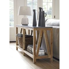 Bluestone Console Table in Side, Coffee Tables | Crate and Barrel...get dad to build