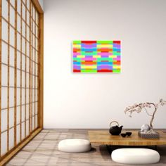 Yin Yang Large Wall Art Zen Aesthetic Rainbow Art | Etsy Canvas Wall Decor, Room Wall Decor, Home Decor Bedroom, Canvas Artwork, Modern Wall Decor, Modern Artwork, Rainbow Wall, Minimalist Home Decor, Abstract Wall Art