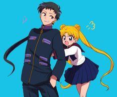 Usagi and Seiya Arte Sailor Moon, Sailor Moon Stars, Sailor Moon Usagi, Sailor Saturn, Sailor Mars, Stars And Moon, Sailor Moon Crystal, Sailor Moon Personajes, Naoko Takeuchi
