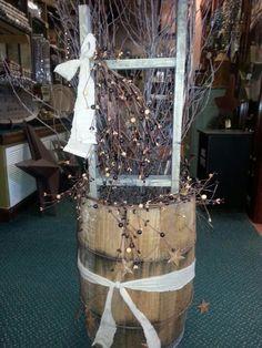 Country decor barrel
