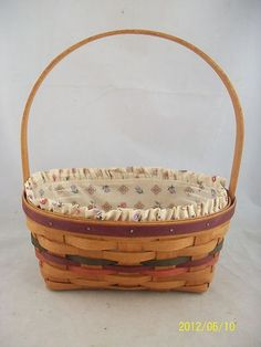 Longaberger 1992 Easter Basket Combo | eBay