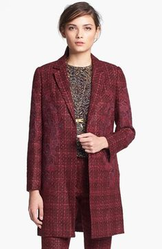 Tory Burch 'Patsy' Tweed Coat. Loving all the tweed fashions coming out for fall.