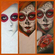 Sugarskull Sugar Skull, Halloween Face Makeup, Superhero, Fictional Characters, Art, Craft Art, Sugar Skulls, Kunst, Candy Skulls