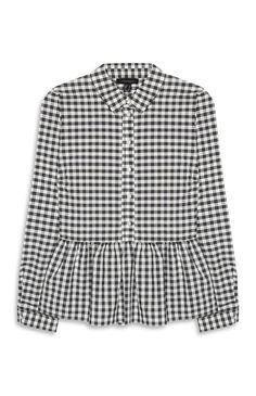 Primark - Gingham Peplum Shirt £10.00. (Spring 2017.)