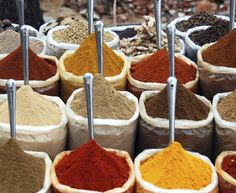 Photo about Indian spices at the Anjuna fleamarket, Goa, India. Image of curry, anjuna, spices - 13208187 Healthy Indian Recipes, Lebanese Recipes, Indian Foods, Indian Dishes, Masala Chai, Garam Masala, Western Food, Spice Mixes, Spice Blends