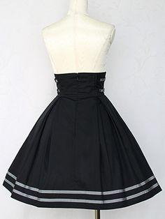 フレンチマリンストライプリボンスカート Victorian maiden