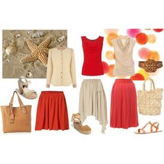 Tangerine & Starfish - 2012 spring summer, created by even-syao on Polyvore