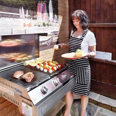 SpaceGrill - The patented design is ideal for apartment balconies, courtyards or a designer look in any backyard! Gas Bbq, Apartment Balconies, Barbecue, Grilling, Backyard, Courtyards, Space, Townhouse, Balcony
