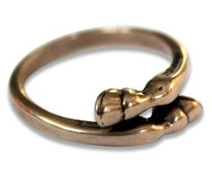 Like a horse giving your little finger a hug :) #horse #ring