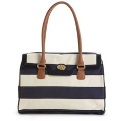 Tommy Hilfiger Handbag, Rugby Stripes Top Handle (4.420 RUB) ❤ liked on Polyvore featuring bags, handbags, purses, man bag, tommy hilfiger purses, top handle purse, tommy hilfiger and patent leather handbags
