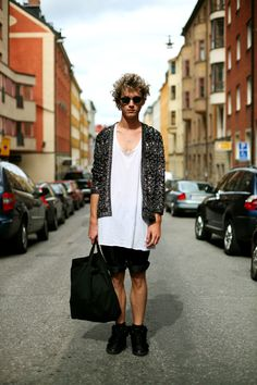 On The Street……Sequin Cardigan Homme, Sodermalm, Stockholm « The Sartorialist
