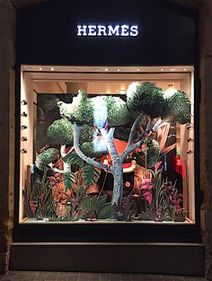 """HERMES, Beirut, Lebanon, """"You can ('t) just let nature run wild"""", creative by Art on Space, pinned by Ton van der Veer"""