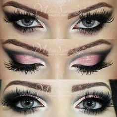 Black and pink cat eyes