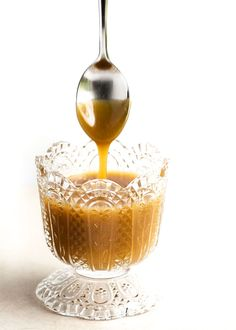 5 Minute Butterscotch Sauce - Once you make this sauce you'll never go back to store-bought again. It's so good and so easy!   justalittlebitofbacon.com