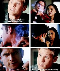 Mason Dye (Garrett) , Tyler Posey (Scott McCall) , & Samantha Logan (Violet) - Teen Wolf😄I'm not even gonna lie I had a lot of favorite parts in the show but this scene I loved the most Stiles Teen Wolf, Teen Wolf Scott, Teen Wolf Mtv, Teen Wolf Boys, Teen Wolf Dylan, Dylan O'brien, Teen Wolf Memes, Teen Wolf Quotes, Teen Wolf Funny
