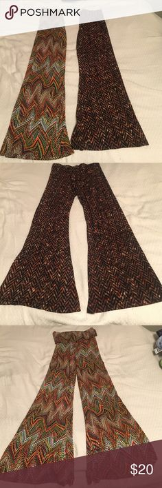 Veronicam boho medium pant These pants are new but have no tags. Original price $68.00. They stretch and are spandex and polyester. photo one not actual pants shows how they fit. Veronicam Pants Wide Leg