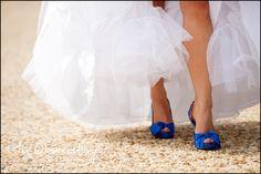 something blue heels #wedding #shoes