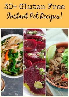An abundance of gluten free instant pot recipes all in one place! You're gonna love these, from desserts to side dishes to the main course, you're covered!