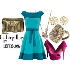 Beautiful color palette with the dress and shoes