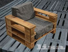 mesa-y-banco-hecho-con-palets Lounge Gartenmöbel Palettenmöbel, Terrasse vintage Design Balkon Pallet Furniture Designs, Pallet Garden Furniture, Wooden Pallet Projects, Pallet Patio, Pallet Sofa, Diy Furniture, Outdoor Furniture, Furniture Plans, Beginner Woodworking Projects