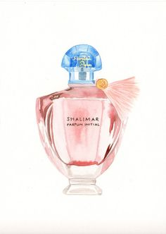 Items similar to Guerlain Shalimar Parfum initial Fragrance - Watercolor Perfume bottle illustration on Etsy Fragrance Parfum, Versace Bright Crystal, Perfume Making, Beauty Illustration, Cosmetics & Perfume, Bottle Art, Fashion Sketches, Perfume Bottles, Frames