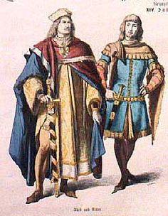 ropa medieval siglo xi | Mercados Medievales y Renacentistas: La moda en el siglo XIV