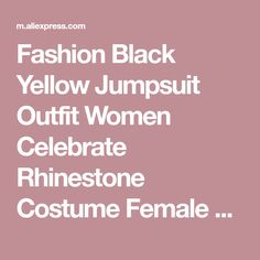 Fashion Black Yellow Jumpsuit Outfit Women Celebrate Rhinestone Costume Female Singer Big Sleeves Bodysuit Performance Wear on sale at reasonable prices, buy Fashion Black Yellow Jumpsuit Outfit Women Celebrate Rhinestone Costume Female Singer Big Sleeves Bodysuit Performance Wear from mobile site on Aliexpress Now!